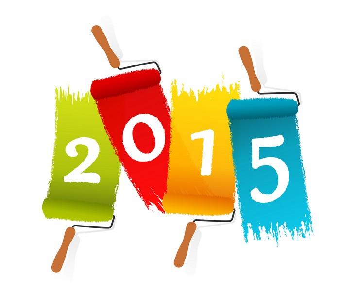 Bonne Annee 2015 Voeux Bonheur Sant  F Te An Gif