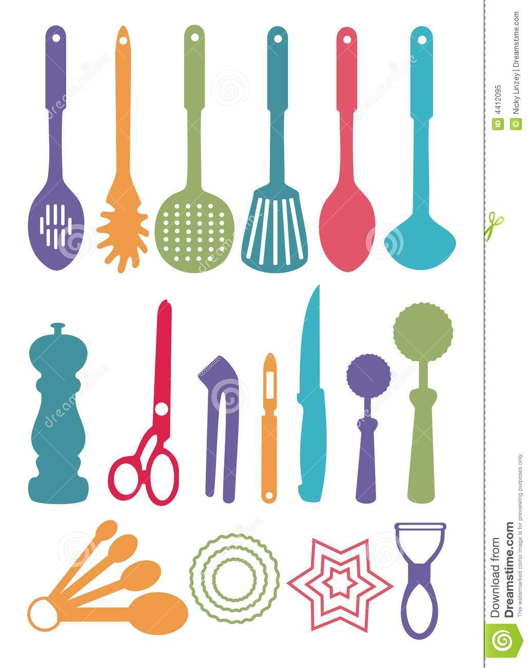 Clipart Kitchen Utensils And Objects Stock Illustration