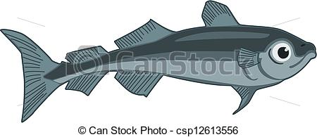 Clipart Vector Of Arctic Cod   Vector Illustration Of An Arctic Cod
