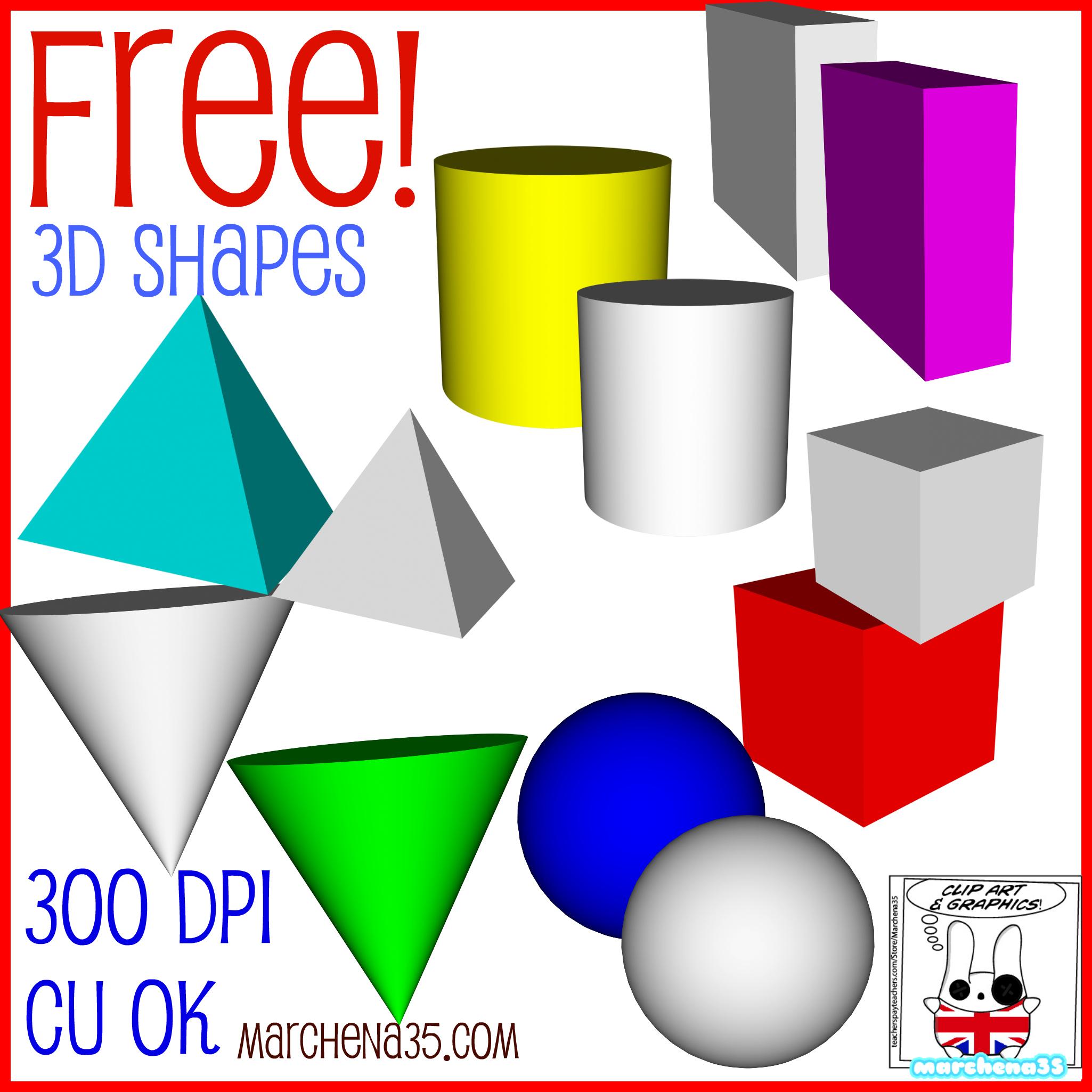 3d Shapes Clipart Clipart Suggest