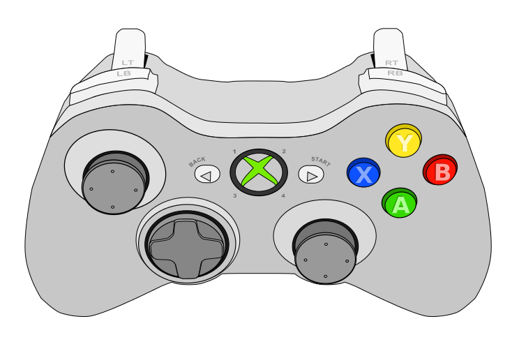 Xbox Controller Outline Clipart - Clipart Suggest