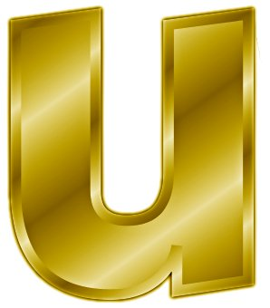 Free Gold Letter U  Clipart   Free Clipart Graphics Images And Photos