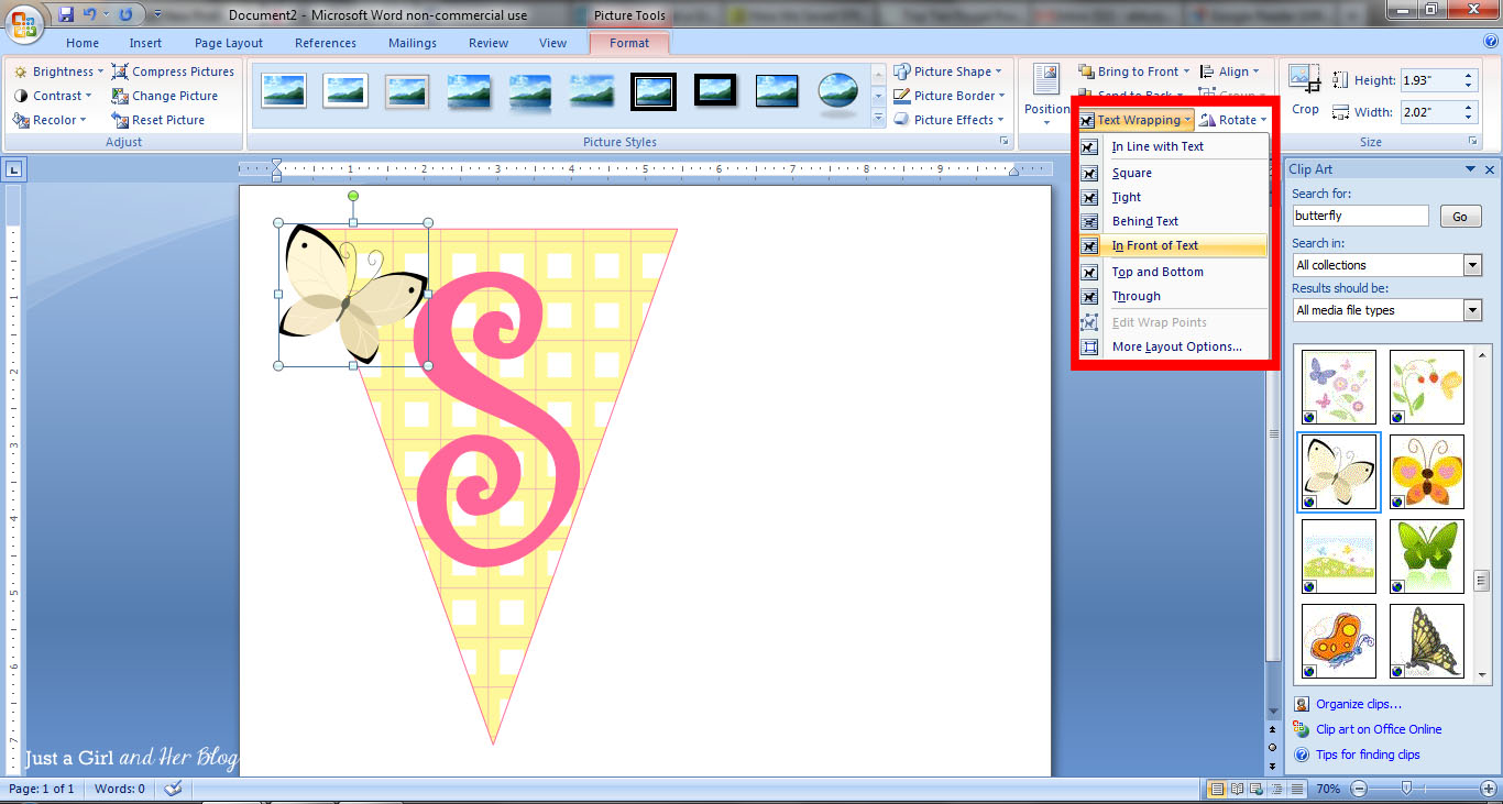 How To Make A Bunting Banner In Word With Clip Art Tips And Tricks ...