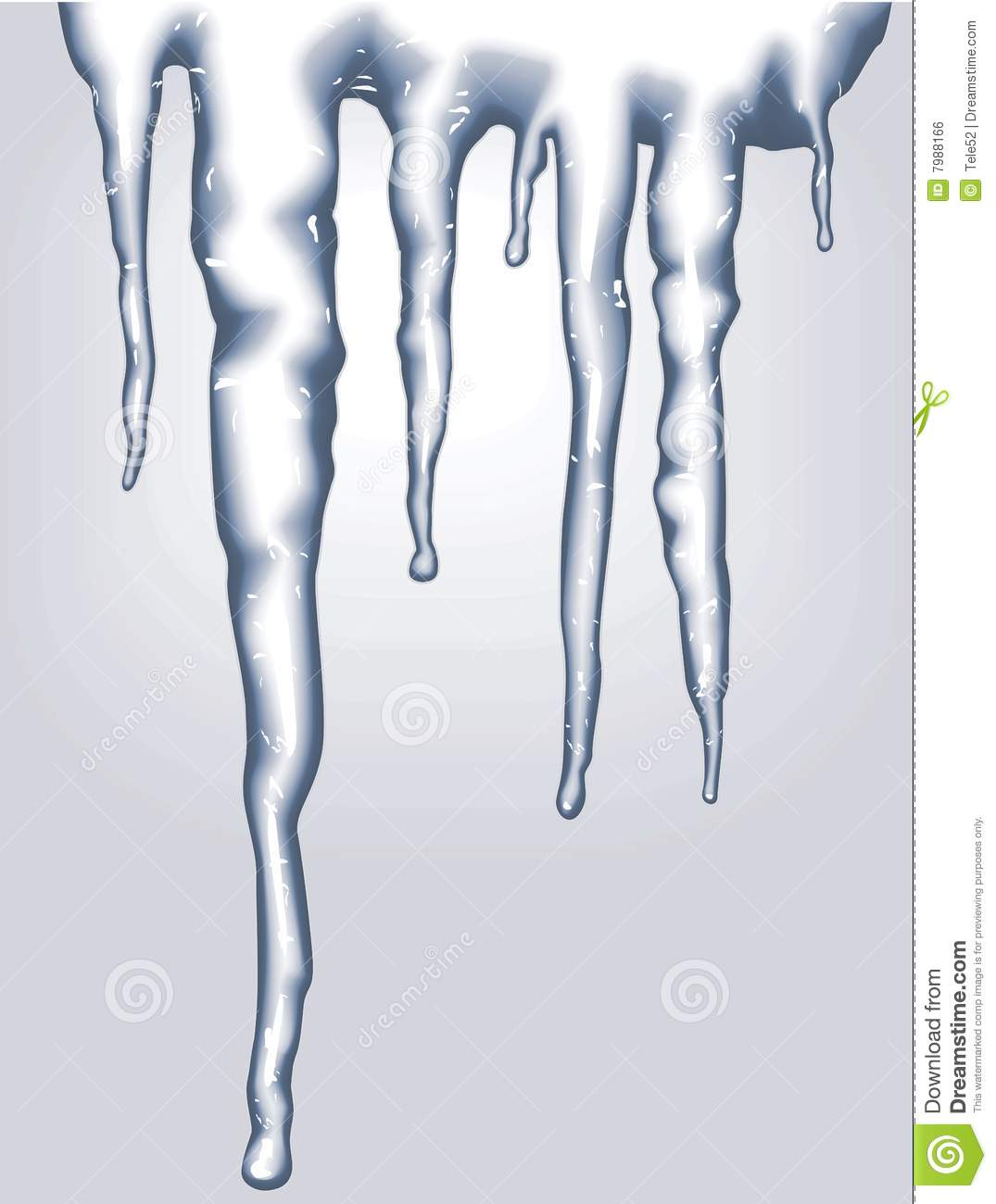 Melting Icicles Clipart Vector Icicles