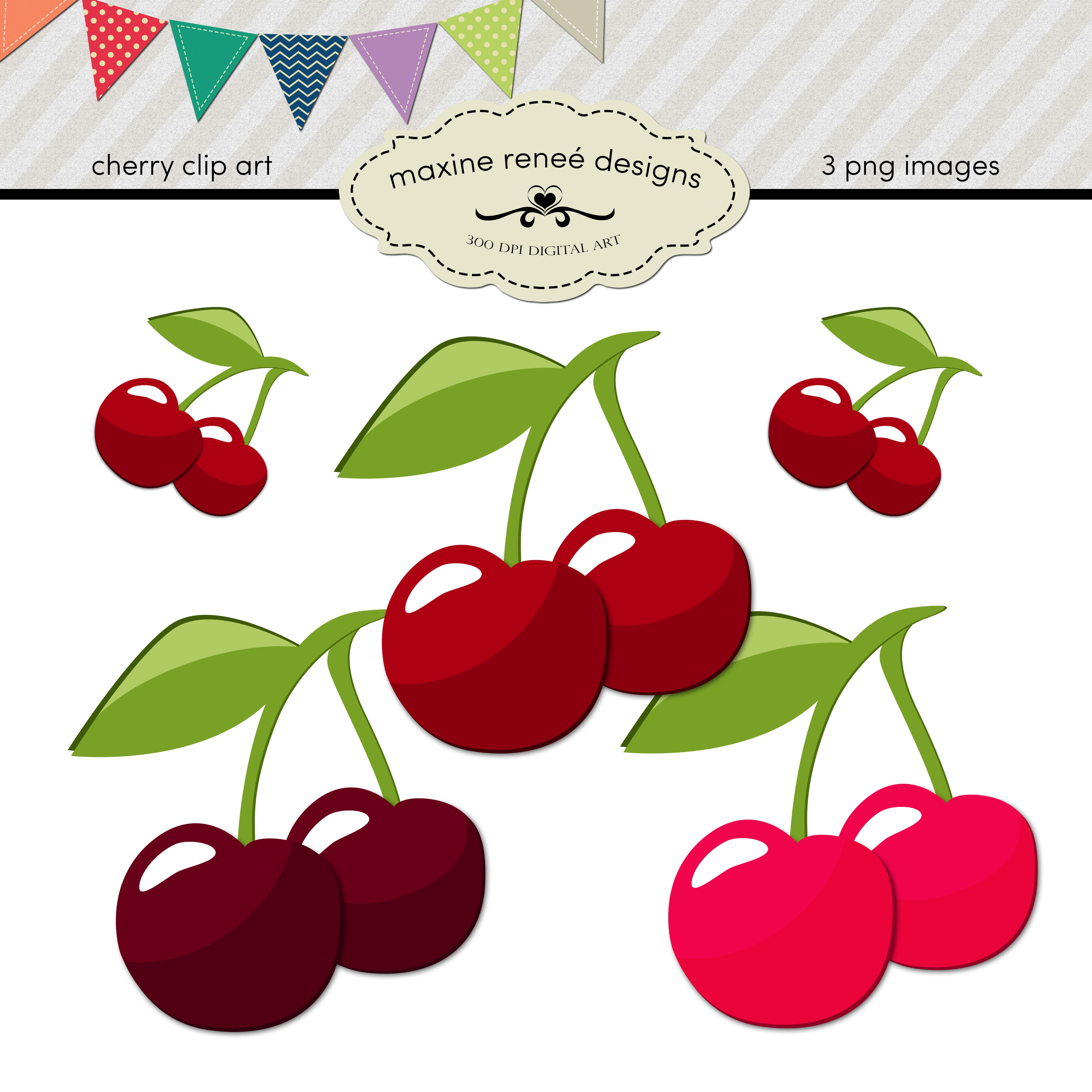 New Cherry Clip Art Here On Etsy