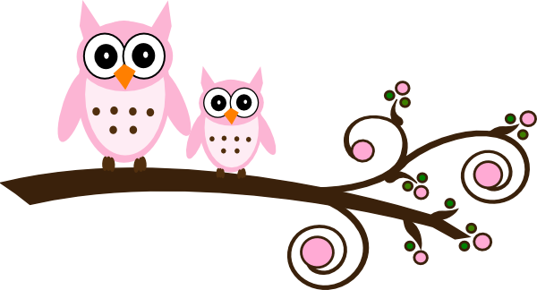 pink-owl-on-branch-clip-art-at-clker-com-vector-clip-art-online-oKmAmc ...