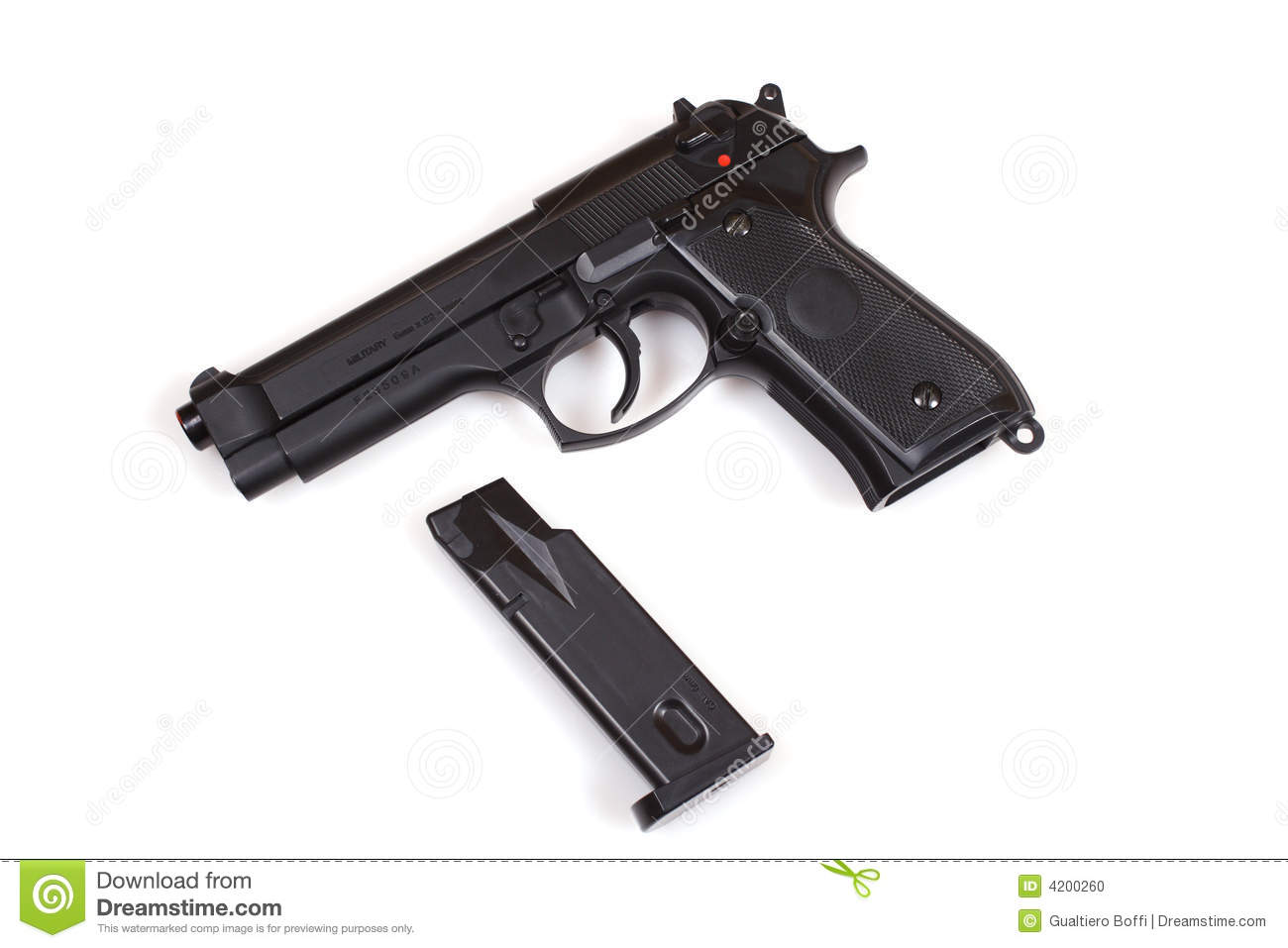 Pistol 9mm Stock Photo   Image  4200260