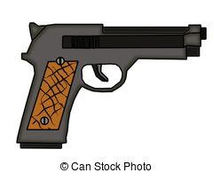 Pistol Handgun Guns 9mm Weapon Gun Illustrations And Clipart