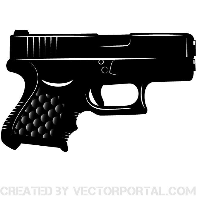 Pistol Vector Clip Art Image   Download At Vectorportal