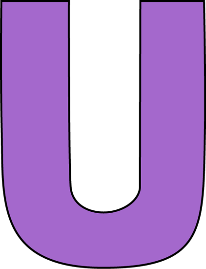 Purple Letter U Clip Art Image   Large Purple Capital Letter U