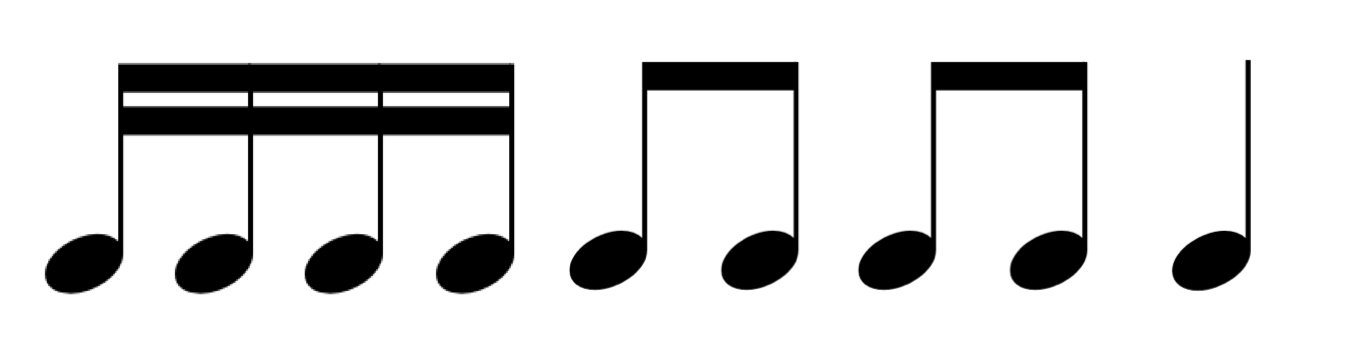 4 Sixteenth Note Clipart - Clipart Suggest
