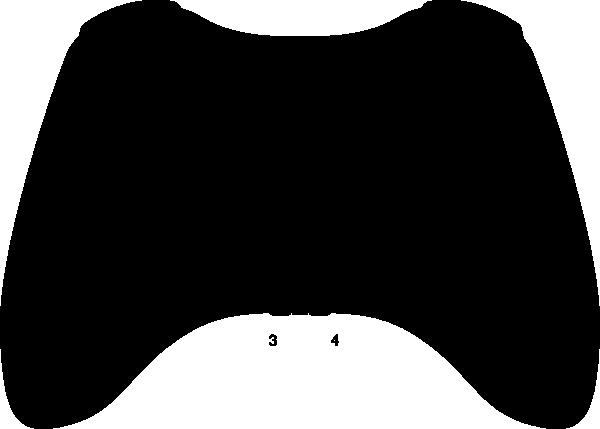 Xbox 360 Controller Silhouette Clip Art