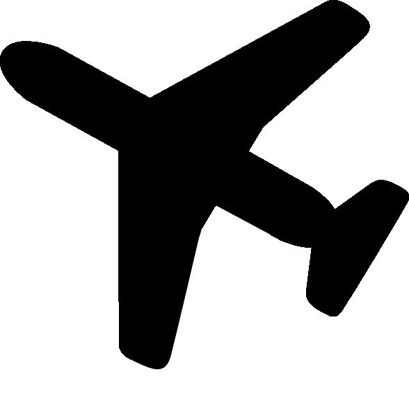 Clip art airplane silhouette clipart clipart kid