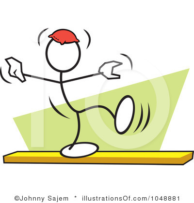 Balance Clipart Royalty Free Balance Beam Clipart Illustration 1048881