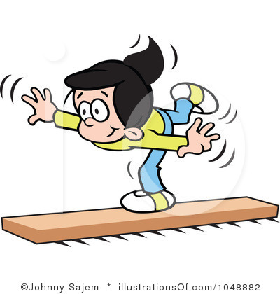 Balance Clipart Royalty Free Balance Beam Clipart Illustration 1048882