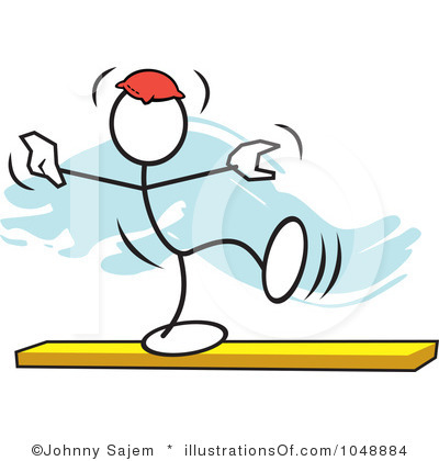 Balance Clipart Royalty Free Balance Beam Clipart Illustration 1048884