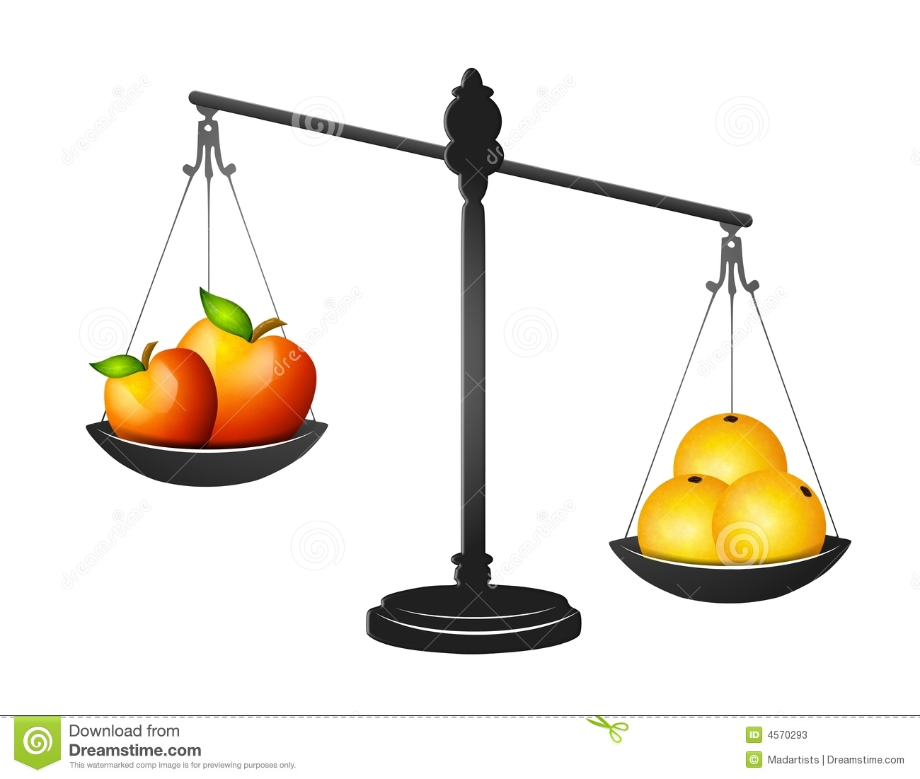 Balance Scale Clipart In A Balancing Scale