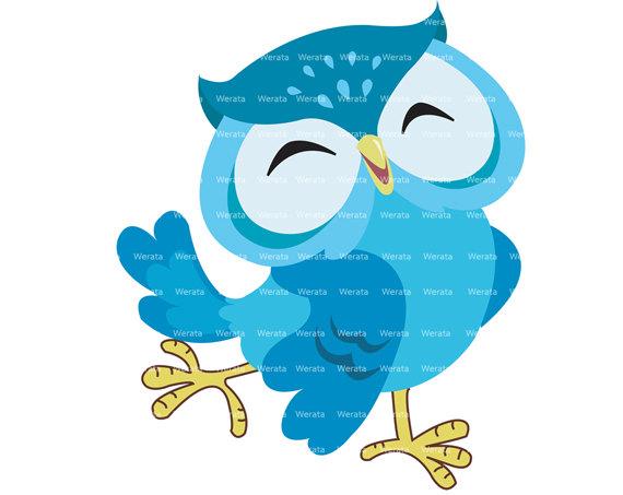 Blue Owl Clipart - Clipart Kid