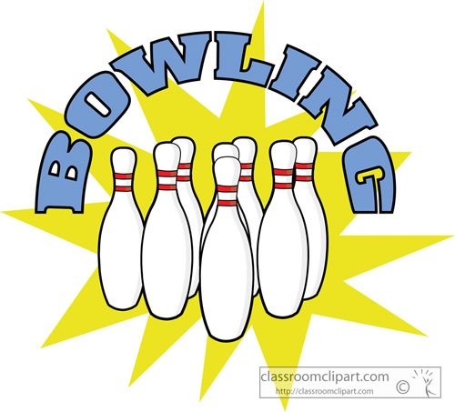Bowling Clipart   Bowling Pings With Sign Ga   Classroom Clipart