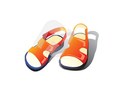 Carrot Sandals Vector Clip Art  00332