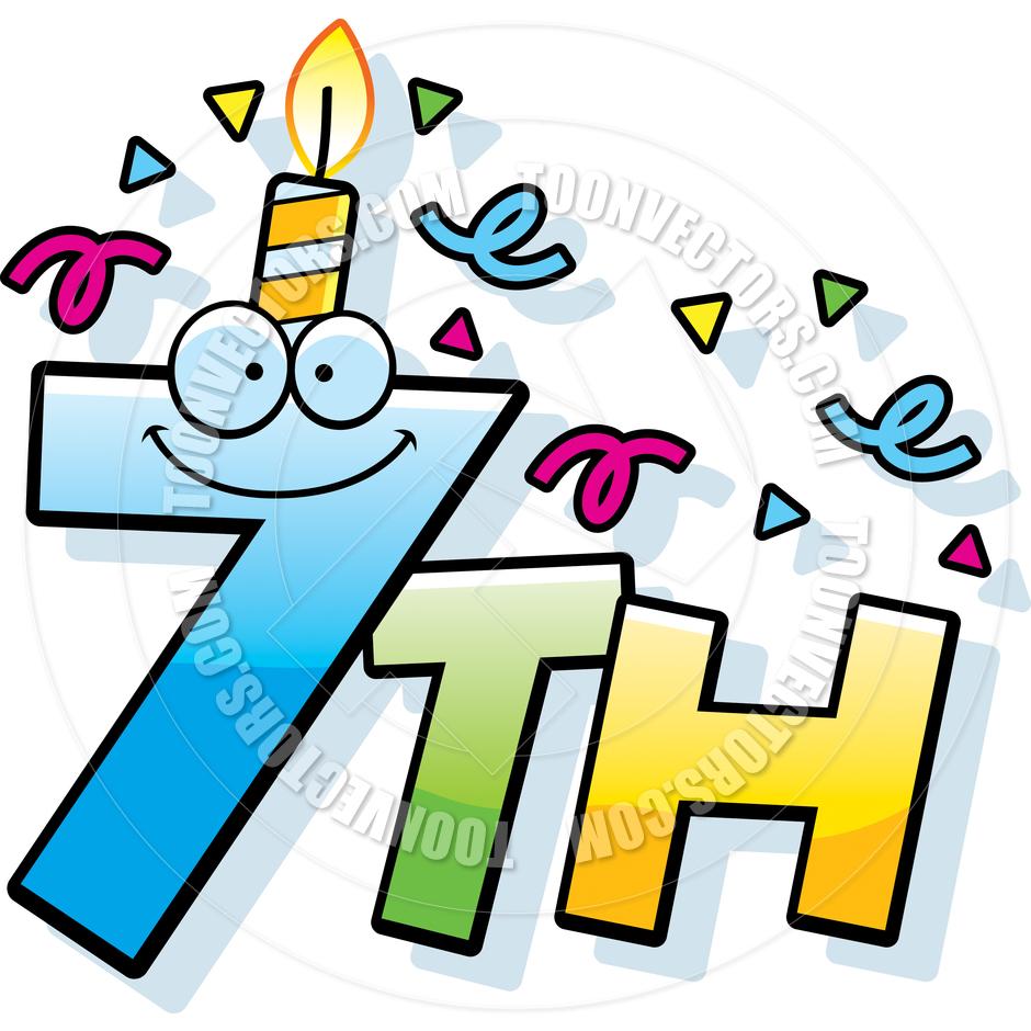 Cartoon 7th Birthday By Cory Thoman   Toon Vectors Eps  47452