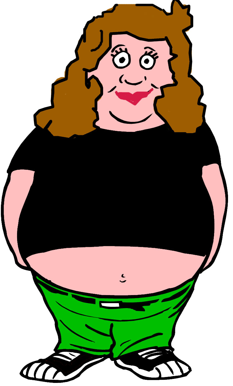 Chubby Lady Back Clipart   Cliparthut   Free Clipart