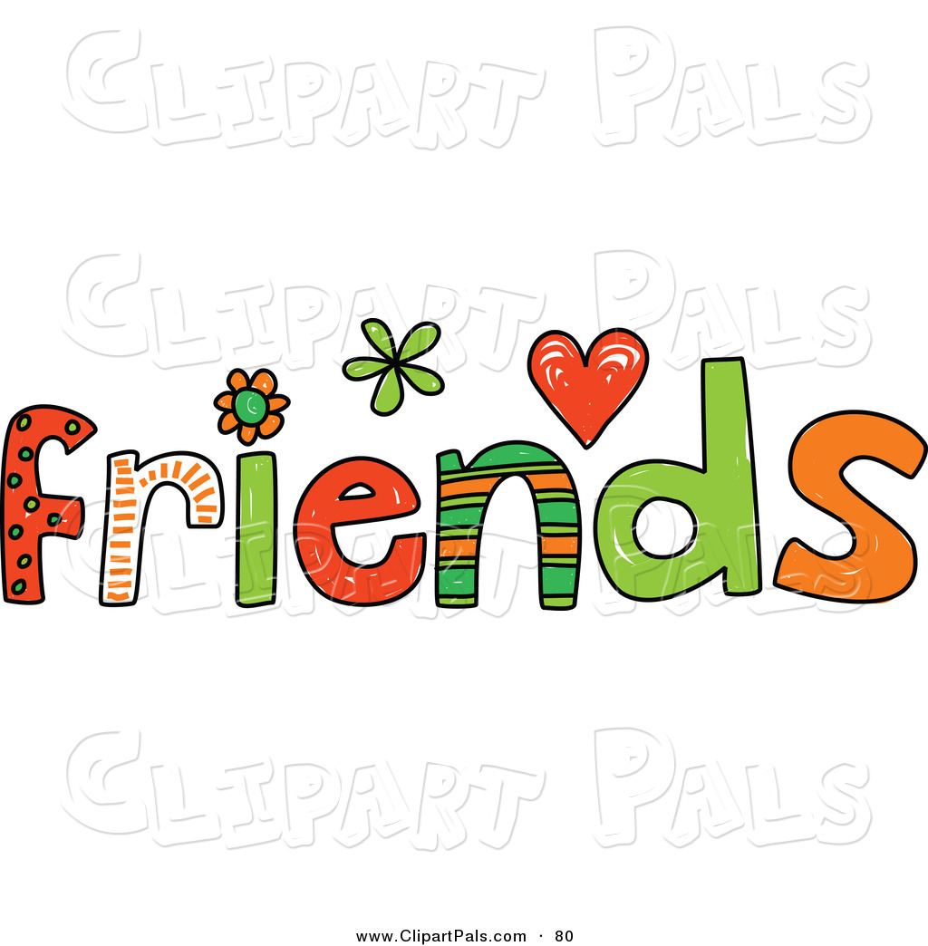 Colorful Friends Word On White Friend Clip Art Prawny