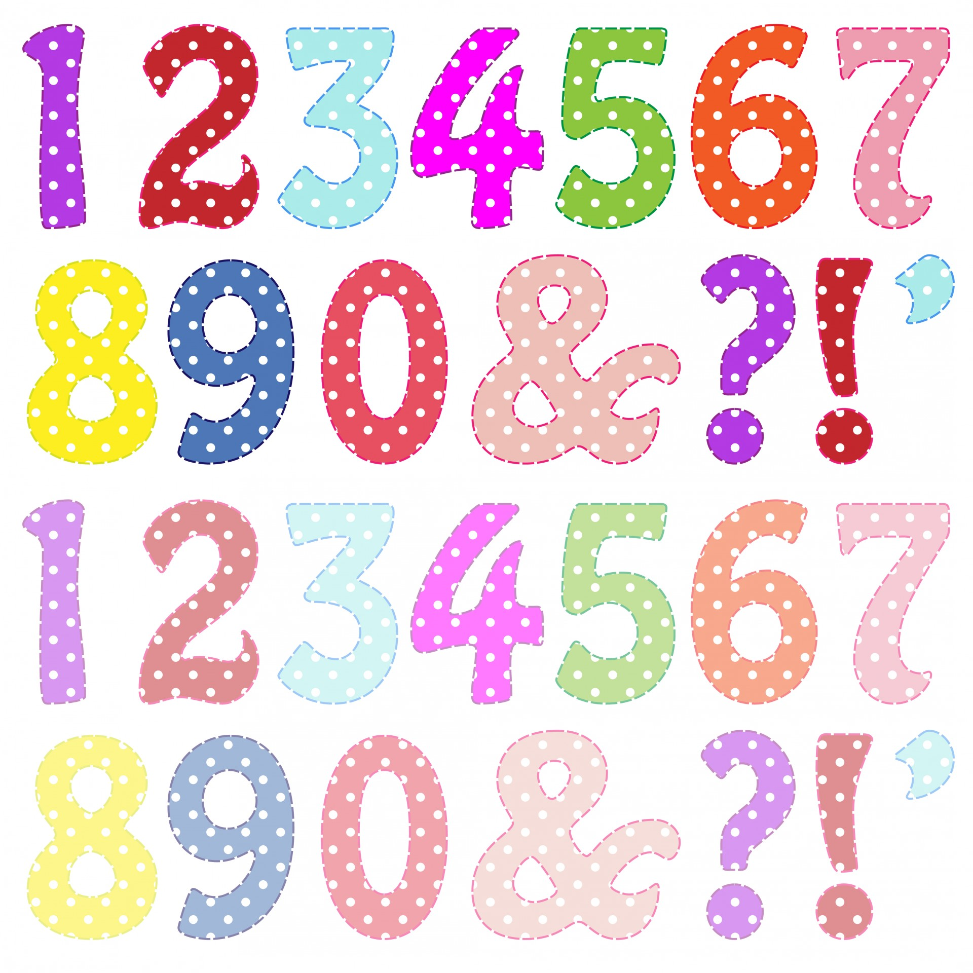Colorful Numbers Clipart Free Stock Photo Hd   Public Domain Pictures