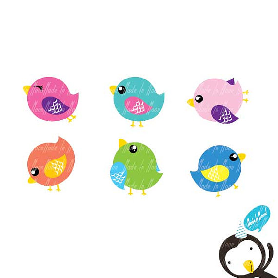 Cute Birds Clip Art