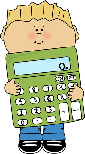 boy holding calculator