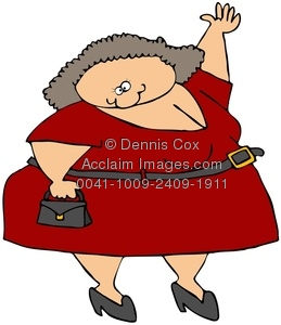 Fat Lady Clipart - Clipart Kid