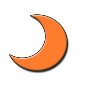 ... Moon Clipart Free clipart picture of an orange half moon - clipart kid Orange Moon Clipart