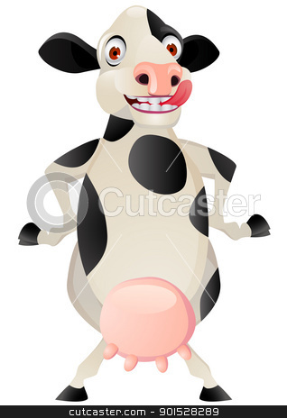 Funny Cow Cartoon Stock Vector Clipart Vector Illustration Of Funny