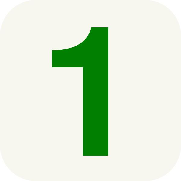 Number 1 Clip Art At Clker Com   Vector Clip Art Online Royalty Free