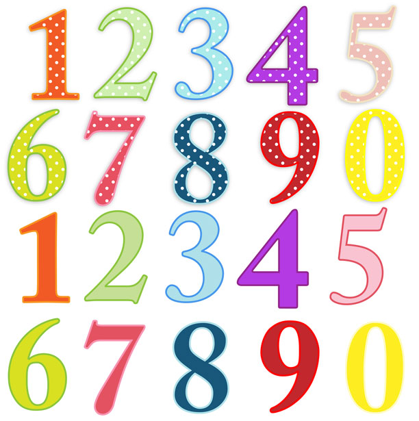 Clip Art Numbers 1-10 Clipart - Clipart Kid