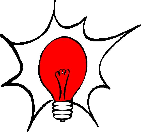 Red Light Bulb Clip Art At Clker Com   Vector Clip Art Online Royalty