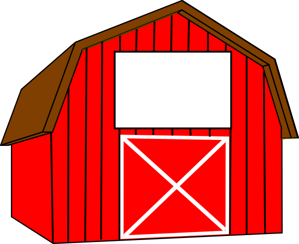 Red White Barn Clip Art At Clker Com   Vector Clip Art Online Royalty