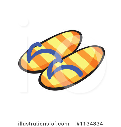 Sandals Clipart  1134334 By Colematt   Royalty Free  Rf  Stock