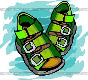 Sandals For Child   Vector Image