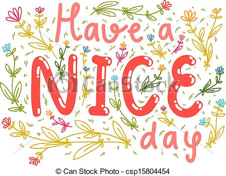 Vector   Have A Nice Day Wishing Card   Stock Illustration Royalty