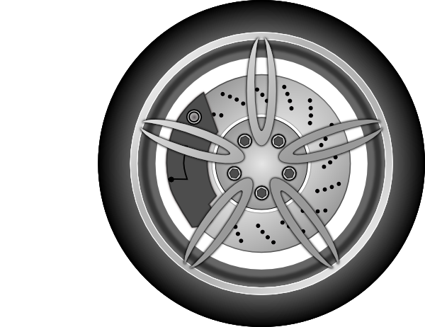 Wheel 1 Clip Art At Clker Com   Vector Clip Art Online Royalty Free