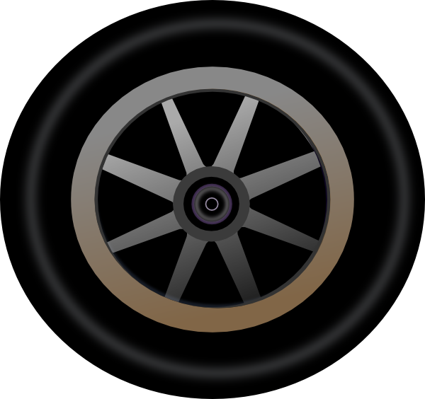Wheel 4 Clip Art At Clker Com   Vector Clip Art Online Royalty Free