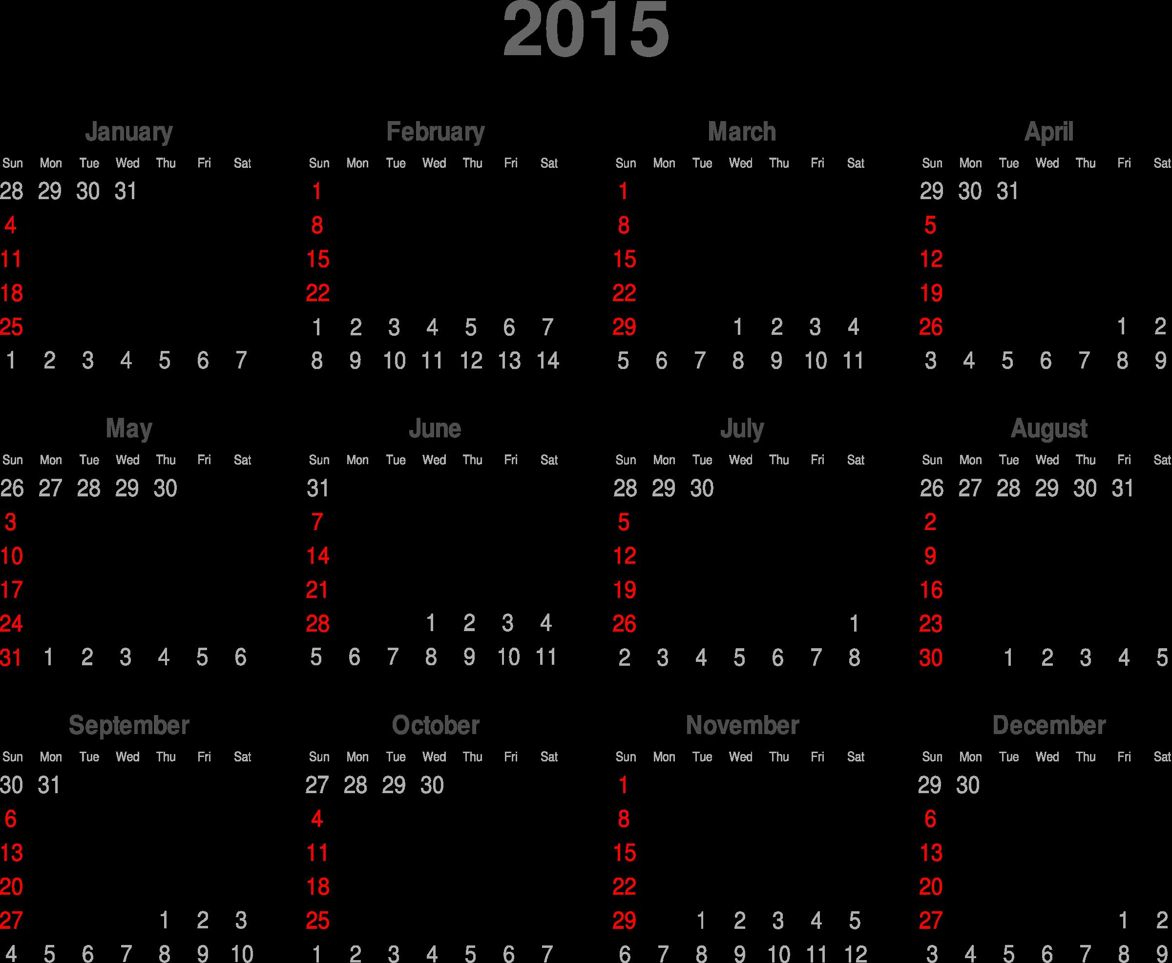 2015 Calendar Png   New Calendar Template Site