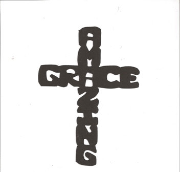 Amazing Grace Cross Silhouette