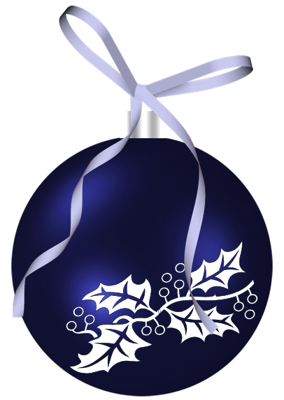 Christmas Dark Blue Ornament Clipart Png