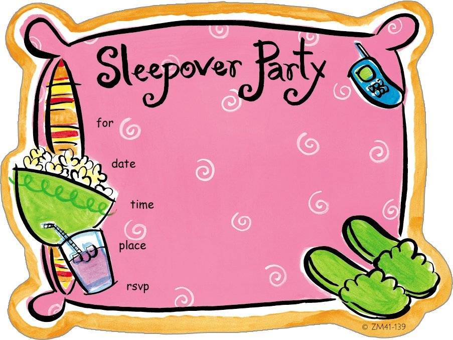 slumber party printable clipart  clipart kid, Party invitations