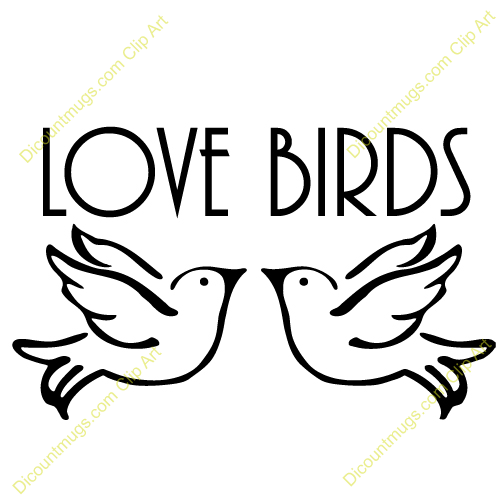 Clipart 12431 Doves In Love   Doves In Love Mugs T Shirts Picture