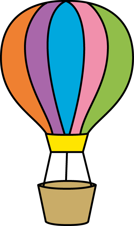 Colorful Hot Air Balloon Clip Art   Colorful Hot Air Balloon Image