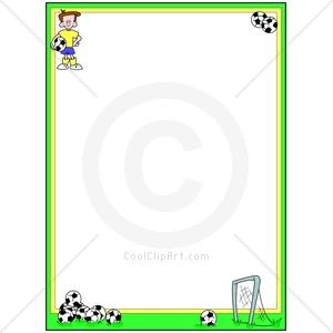 Sports Clip Art Border Soccer border clipart - clipart kid