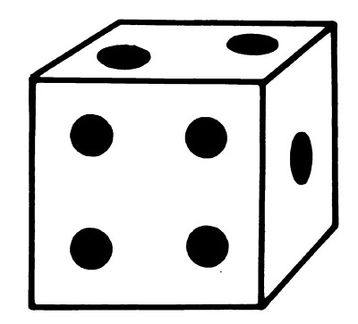 20 dice black and white template of the water